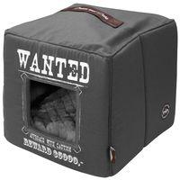 dd cama cubo de mascota wanted 40x40x40 cm gris 671432327