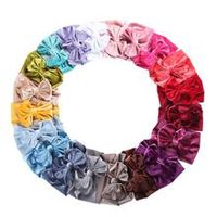 20pcslot solid velvet baby headband autumn winter new turban headwraps hair bands for baby girls handmade hair accessories