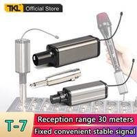 tkl t-7 professional microphone uhf wireless xlr transmitter and receiver 65mm plug-on rechargeable kit for handheld microphone