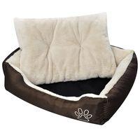 vidaxl cama blanda para perros con un cojin blanco acolchado tamano m