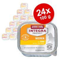 animonda integra protect adult renal 24 x 100 g para gatos - pack ahorro - pack mixto pollo pavo puro vacuno y cerdo