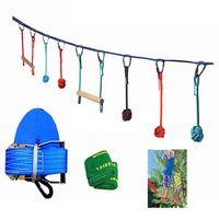kits de slackline de 50 pies al aire libre entrenador de equilibrio deportivo extremo cuerda juego de obstaculos para ni