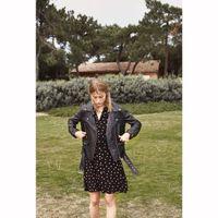 vestido corto con botones estampado