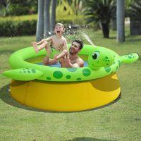 jilong piscina inflable rociadora en forma de tortuga 175x62 cm 1270 l