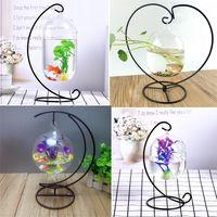 mini bola de cristal colgante mini pecera acuario decoracion de escritorio para el hogar con soporte