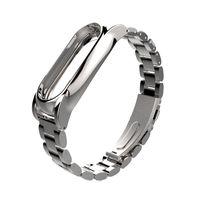mijobs reemplazo de mextal de acero inoxidable brazalete pulsera para miband 2