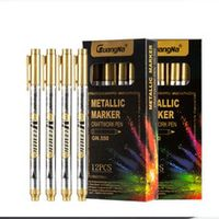 graffiti marker pens plastic metallic gold silver whiteboard glass markers for kids painting school supplies office stationery