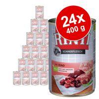 rinti kennerfleisch 24 x 400 g - pack ahorro - corazones de ave