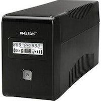 phasak ph 9465 650va 2ac outlets compacto negro