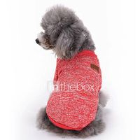 gatos perros abrigos camiseta ropa para perro invierno primaveraotono un color adorable moda deportes rojo verde azul rosa azul claro