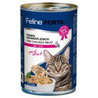 feline porta 21 6 x 400 g en latas para gatos - atun con espadin sin cereales