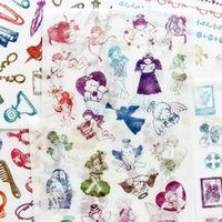 6 sheetspack vintage angel stamp washi paper decorative stickers album diary decoration