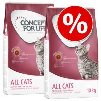 concept for life pienso para gatos - pack ahorro - outdoor cats 3 x 3 kg