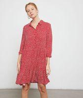 vestido camisero estampado de corazones - joana - 40 - rojo - mujer - etam