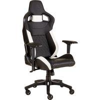t1 race silla para videojuegos de pc negro blanco asientos de juego