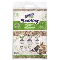 bunny bed o linum lecho natural de lino para roedores - 35 l