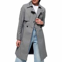 superdry sirena trench l dogstooth