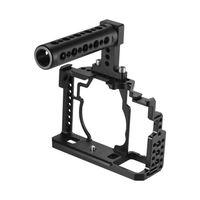 andoer aleacion de aluminio camara cage  top handle  15mm rod baseplate kit