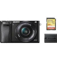 sony a6000 negro kit sel 16-50mm f35-56 oss negro  tarjeta sd de 64 gb  bateria np-fw50