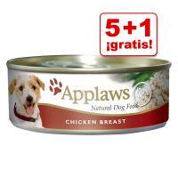 applaws 6 x 156 g latas para perros en oferta 5  1 gratis - pollo con verduras en caldo