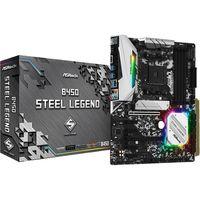 b450 steel legend amd b450 zocalo am4 atx placa base