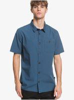 taxer - camisa de manga corta para hombre - azul - quiksilver