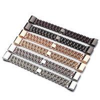 banda de reloj de alta calidad de aleacion de zinc mujer moda pulsera de muneca de estilo simple para fitbit charge 2
