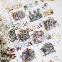 40 pcspack vivid sulfate paper plants sticker pack diy scrapbooking diary stationery stickers supplies