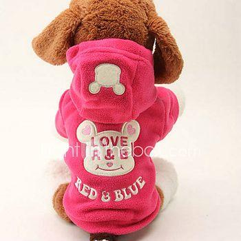 Perros Saco y Capucha Negro / Rosa Ropa para Perro Invierno / Primavera/Otoño Caricaturas Adorable / Mantiene abrigado
