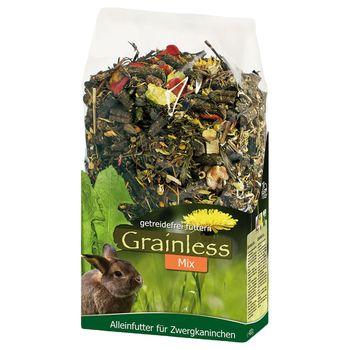 JR Grainless Mix para conejos enanos - 2 x 1,7 kg - Pack Ahorro