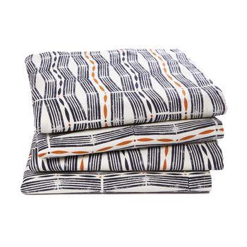 Lote de 4 servilletas de algodón lavado, Izama