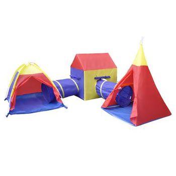 knorr® toys tent city De Luxe City coloured