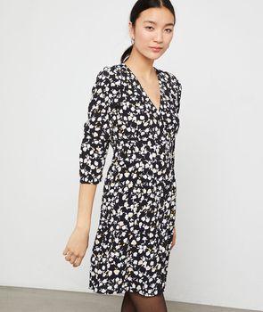 Vestido estampado floral - JEANNE - 40 - Negro - Mujer - Etam