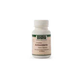 GHF antioxidante vitamina C, E y selenio sabor naranja 100comp