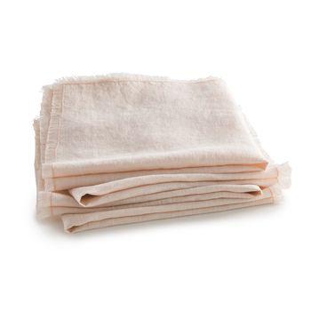 Lote de 4 servilletas de mesa de lino lavado, Yastigi
